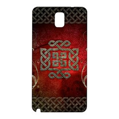 The Celtic Knot With Floral Elements Samsung Galaxy Note 3 N9005 Hardshell Back Case