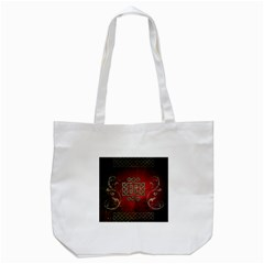 The Celtic Knot With Floral Elements Tote Bag (white)