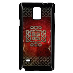 The Celtic Knot With Floral Elements Samsung Galaxy Note 4 Case (black)