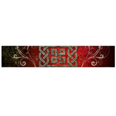 The Celtic Knot With Floral Elements Flano Scarf (large)