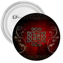 The Celtic Knot With Floral Elements 3  Buttons