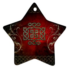 The Celtic Knot With Floral Elements Ornament (star)