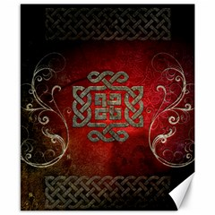 The Celtic Knot With Floral Elements Canvas 8  X 10