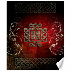 The Celtic Knot With Floral Elements Canvas 20  X 24
