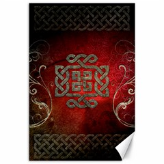 The Celtic Knot With Floral Elements Canvas 24  X 36