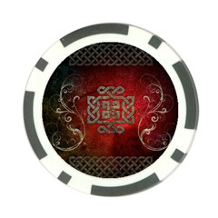 The Celtic Knot With Floral Elements Poker Chip Card Guard