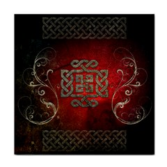 The Celtic Knot With Floral Elements Face Towel