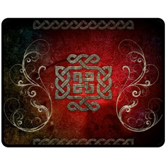 The Celtic Knot With Floral Elements Fleece Blanket (medium)