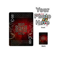 The Celtic Knot With Floral Elements Playing Cards 54 (mini)