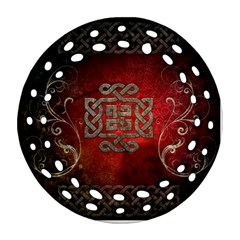 The Celtic Knot With Floral Elements Ornament (round Filigree)