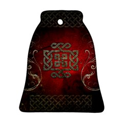 The Celtic Knot With Floral Elements Bell Ornament (two Sides)