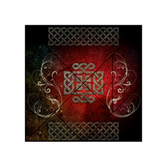 The Celtic Knot With Floral Elements Acrylic Tangram Puzzle (4  X 4 )