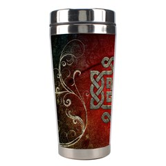 The Celtic Knot With Floral Elements Stainless Steel Travel Tumblers