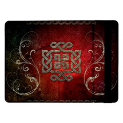 The Celtic Knot With Floral Elements Samsung Galaxy Tab Pro 12 2  Flip Case