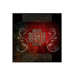 The Celtic Knot With Floral Elements Satin Bandana Scarf