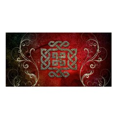 The Celtic Knot With Floral Elements Satin Shawl