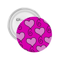 Curly Heart Bg  Pink 2 25  Buttons