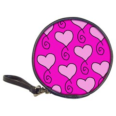 Curly Heart Bg  Pink Classic 20 Cd Wallets