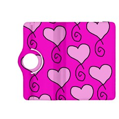Curly Heart Bg  Pink Kindle Fire Hdx 8 9  Flip 360 Case