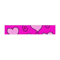 Curly Heart Bg  Pink Flano Scarf (mini)