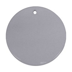 Grey Harbour Mist   Spring 2018 London Fashion Trends Ornament (round)