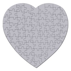 Grey Harbour Mist   Spring 2018 London Fashion Trends Jigsaw Puzzle (heart)