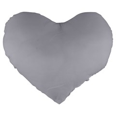 Grey Harbour Mist   Spring 2018 London Fashion Trends Large 19  Premium Heart Shape Cushions