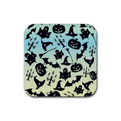 Spooky Halloween Rubber Square Coaster (4 Pack)