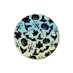 Spooky Halloween Rubber Round Coaster (4 Pack)