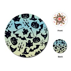 Spooky Halloween Playing Cards (round)