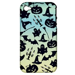 Spooky Halloween Apple Iphone 4/4s Hardshell Case (pc+silicone)