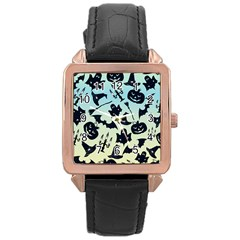 Spooky Halloween Rose Gold Leather Watch