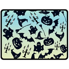 Spooky Halloween Double Sided Fleece Blanket (large)