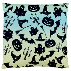Spooky Halloween Large Flano Cushion Case (two Sides)
