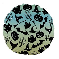 Spooky Halloween Large 18  Premium Flano Round Cushions