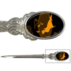 Day Hallowiin Ghost Bat Cobwebs Full Moon Spider Letter Openers