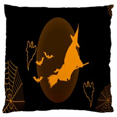 Day Hallowiin Ghost Bat Cobwebs Full Moon Spider Large Flano Cushion Case (two Sides)