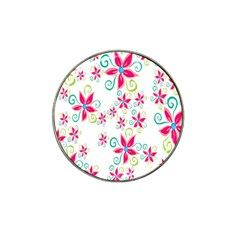 Flower Beauty Sexy Rainbow Sunflower Pink Green Blue Hat Clip Ball Marker (10 Pack)