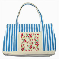 Flower Beauty Sexy Rainbow Sunflower Pink Green Blue Striped Blue Tote Bag