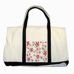 Flower Beauty Sexy Rainbow Sunflower Pink Green Blue Two Tone Tote Bag