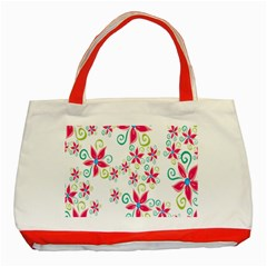 Flower Beauty Sexy Rainbow Sunflower Pink Green Blue Classic Tote Bag (red)