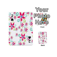 Flower Beauty Sexy Rainbow Sunflower Pink Green Blue Playing Cards 54 (mini)