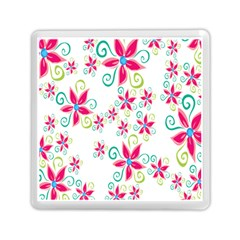 Flower Beauty Sexy Rainbow Sunflower Pink Green Blue Memory Card Reader (square)