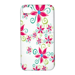 Flower Beauty Sexy Rainbow Sunflower Pink Green Blue Apple Iphone 4/4s Hardshell Case With Stand