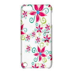 Flower Beauty Sexy Rainbow Sunflower Pink Green Blue Apple Ipod Touch 5 Hardshell Case With Stand