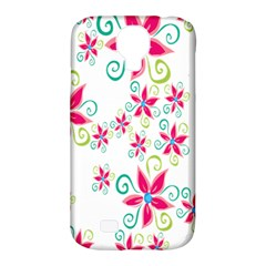 Flower Beauty Sexy Rainbow Sunflower Pink Green Blue Samsung Galaxy S4 Classic Hardshell Case (pc+silicone)