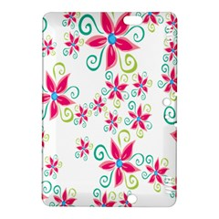 Flower Beauty Sexy Rainbow Sunflower Pink Green Blue Kindle Fire Hdx 8 9  Hardshell Case