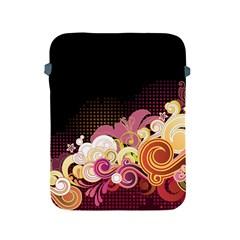 Flower Back Leaf Polka Dots Black Pink Apple Ipad 2/3/4 Protective Soft Cases