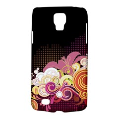 Flower Back Leaf Polka Dots Black Pink Galaxy S4 Active