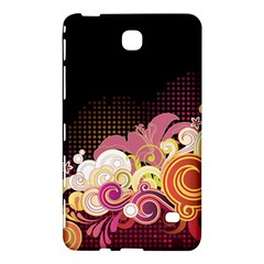 Flower Back Leaf Polka Dots Black Pink Samsung Galaxy Tab 4 (8 ) Hardshell Case